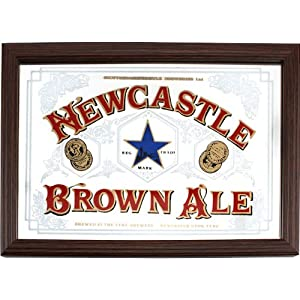 Newcastle Brown Ale Bar Wall Mirror