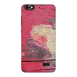 Special Vintage Red Yellow Print Back Case Cover for Honor 4C