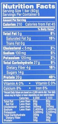 PowerBar 20g Protein Plus, Vanilla, 6 Count