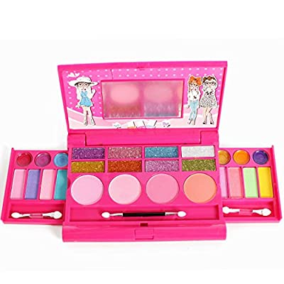 Princess Girl's all-in-one Deluxe Makeup Palette with mirror by IQ Toys