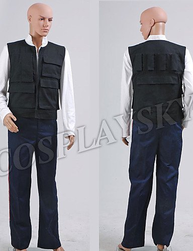 FW@ Star Wars ANH A New Hope Han Solo Costume Vest Shirt Pants , male , xxxl (Han Solo Costume Shirt)
