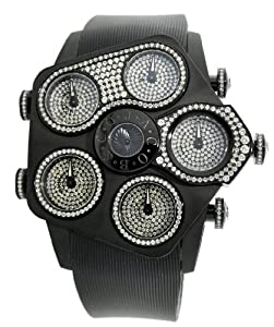 Jacob & Co. Jumbo Grand JGR5-24 Black PVD 3.95Ct Diamond 52.5 mm Watch