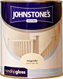 Johnstones No Ordinary Paint One Coat Non Drip Oil Based Gloss Magnolia 750ml