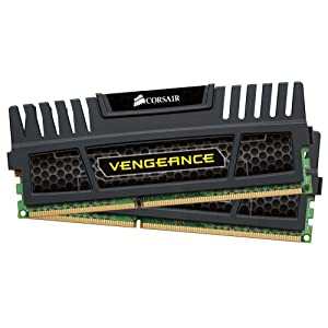 Corsair Vengeance 8 GB ( 2 x 4 GB ) DDR3 1600 MHz (PC3 12800) 240-Pin DDR3 Memory Kit for Intel and AMD Platforms SDRAM