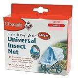 Clippasafe Pram & Pushchair Universal Insect Net (One Size, White)