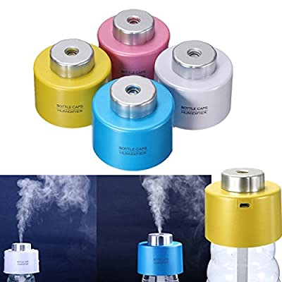 RoseBlue by Risa Mini Portable Bottle Cap Air Humidifier with USB Cable for Office Home