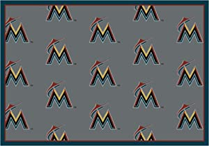 Florida Marlins 7 8 x 10 9 Team Repeat Area Rug by Milliken