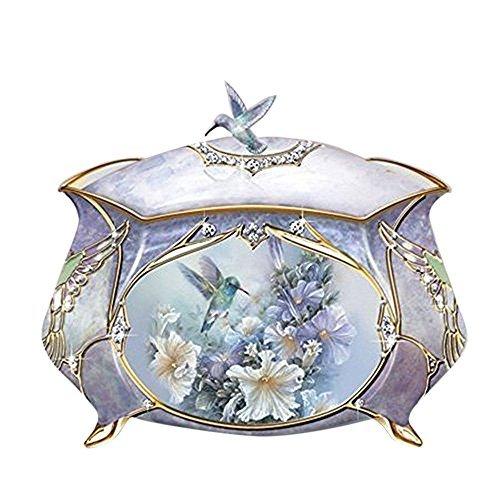 Hummingbird Porcelain Music Box