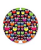 PosterGuy Cute Quirky Round Faces Pattern Art Illustration Fridge Magnet