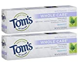 Tom's of Maine Whole Care Fluoride Toothpaste Spearmint, 4.7 Ounce, 2 Count