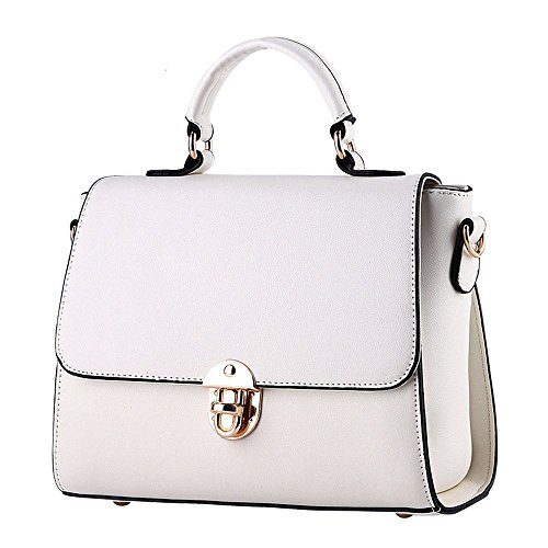 koson-man-damen-pu-leder-vintage-beauty-schnalle-tragetaschen-top-griff-handtasche-weiss-weiss-kmukh