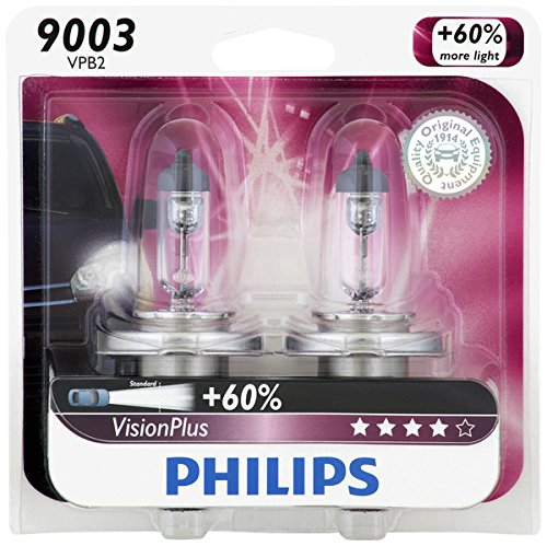 Philips 9003 VisionPlus Upgrade Headlight Bulb, Pack of 2 (Honda Civic 2000 Lx Glasses Seal compare prices)