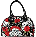 Banned Rose & Skull Hand/Shoulder Bag