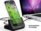 Samsung GalaxyS4 USBクレードル 充電同期スタンド ギャラクシーS4用 (ブラック) / 有限会社オプティックエージェント