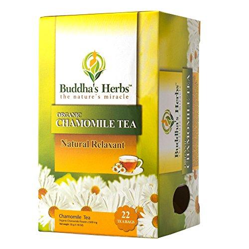 Buddha's Herbs Organic Chamomile Tea, 22-Count Tea Bags