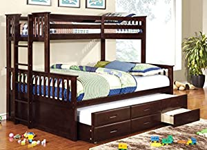 Furniture of America Pammy Twin-Queen Bunk Bed