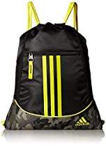 adidas Alliance II Sackpack, Black/Camouflage/Yellow, One Size