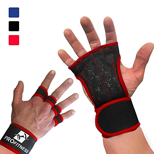 ProFitness Training Gloves With Silicone Padding, Wrist Support for WODs, Gym Workout, Weightlifting & Fitness - Perfect for Men & Women (Red, X-Small) (5 Man Football Sled compare prices)