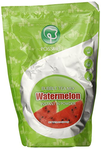 Possmei Bubble Tea Mix Instant Powder, Watermelon, 2.2 Pound