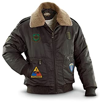 Guide Gear Patch Bomber Jacket Brown, BROWN, M