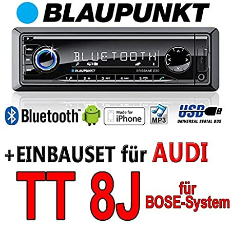 Audi tT 8J bose brisbane bLAUPUNKT - 230/mP3/uSB avec kit de montage autoradio avec bluetooth