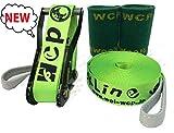【スラックライン】 【WCP Slackline】 Glitterline 15m 『Fluorescent Green/蛍光緑発光ライン』 (ツリーウェア2枚/収納ザック付属) 日本メーカー最新モデル発売