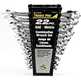 Tradespro 836574 SAE and Metric Wrench Set, 22-Piece