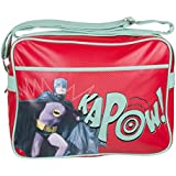Red Batman Kapow Retro Messenger Bag
