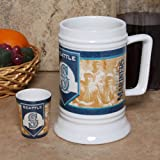 MLB Seattle Mariners 20oz. Stein & 2oz. Shot Glass Set Amazon.com