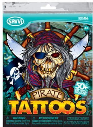 Pirates, Over 50 Temporary Tattoos by Savvi
