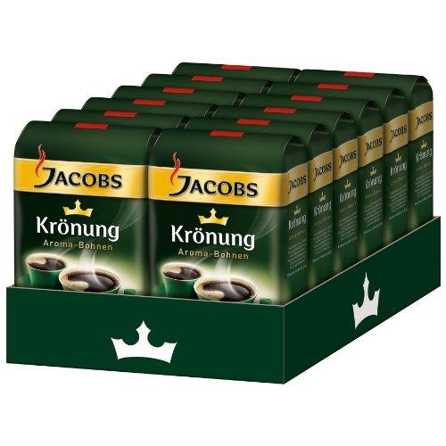 JACOBS KRONUNG WHOLE BEAN AROMA BOHNEN COFFEE CASE 12 x 500g (Jacobs Coffee Whole Bean compare prices)