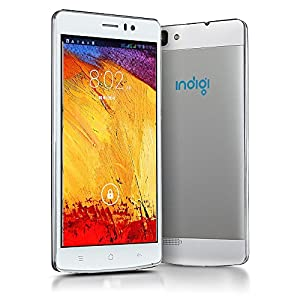 Indigi® 3G Smartphone (Factory GSM Unlocked) 5.5-inch Full HD Capacitive Multi-Touch Screen Android 4.4 Smartphone White