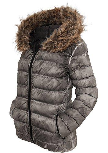 urban classics donna giacca invernale Spray Dye - L, Grey