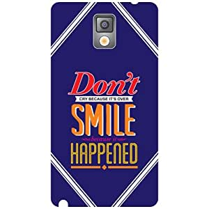 Samsung Galaxy Note 3 Phone Cover - Don'T Smile Matte Finish Phone Cover