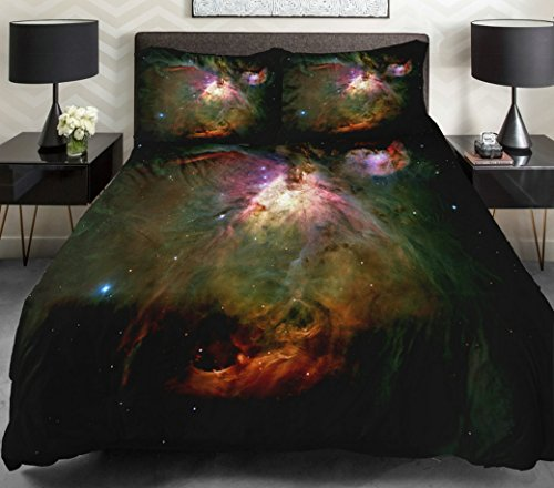 Anlye Luxury Bedding Set For Diy Your Home 2 Sides Printing Galaxy Duvet Covers Galaxy Top Sheet With 2 Throw Pillow Covers Queen front-639594