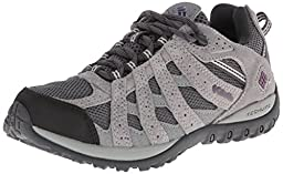 Columbia Women\'s Redmond Waterproof Trail Shoe, Charcoal/Glory, 8 M US