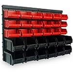 Wandregal + Stapelboxen 32 tlg Box We...