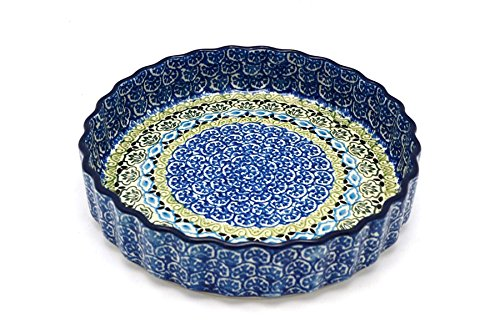 Polish Pottery Baker - Fluted Quiche - Small (7
