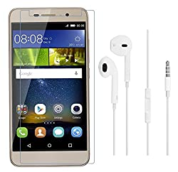 Mercator Tempered Glass and Earphone Combo for Honor Holly2 Plus