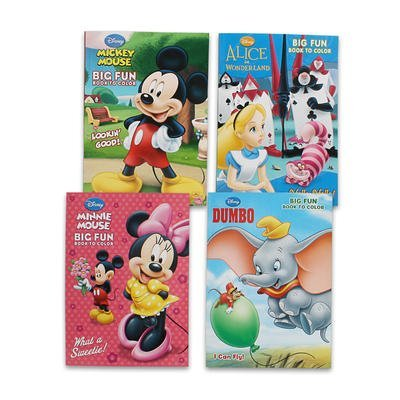 2 Pack Disney Coloring Book 96 Page Each - Assorted