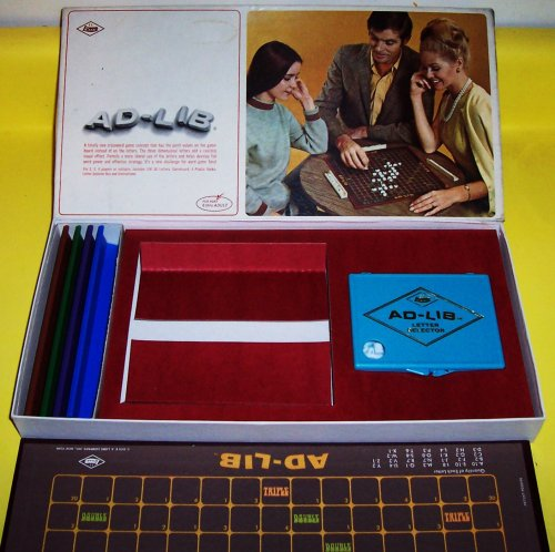 "VINTAGE 1970 ""AD-LIB"" CROSSWORD GAME - 1"