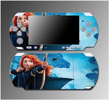 Brave Merida Archer Robin Hood Princess Girl Video Game Vinyl Decal Sticker Cover Skin Protector 3 Sony PSP Slim 3000 3001 3002 3003 3004 Playstation Portable