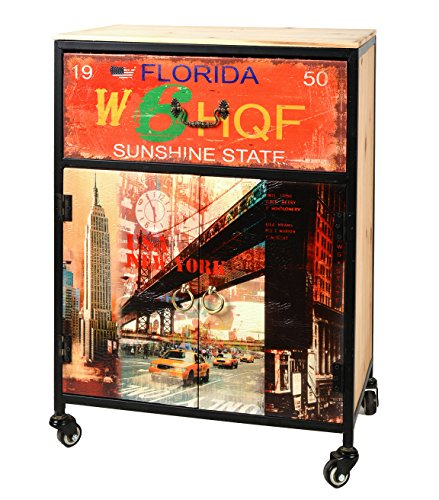 ts-ideen-Kommode-Regal-50-x-70-cm-mit-Rollen-Schrank-NEW-YORK-FLORIDA-Rollcontainer