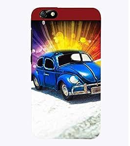 PrintVisa Cute Car 3D Hard Polycarbonate Designer Back Case Cover for Huawei Honor 4X