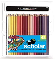 Prismacolor 92807 Prismacolor Scholar Colored Pencils, 48 Assorted Colors/Set
