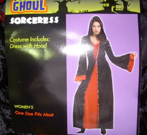 Sorceress Red Velour Woman Adult Costume