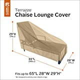 Classic Accessories 58952-EC Terrazzo Patio Chaise Lounge Cover, Medium