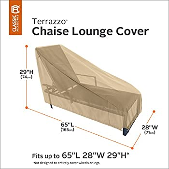Classic Accessories 58952-EC Terrazzo Patio Chaise Lounge Cover, Medium