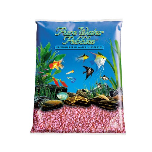 Eau pure galets pour aquarium gravier 25 pound rose fluo for Gravier pour aquarium
