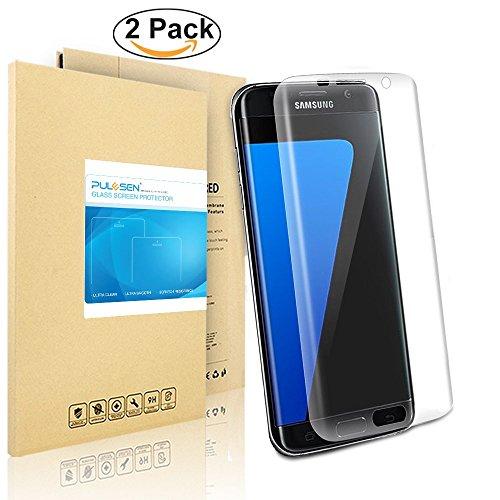 Galaxy S7 edge de Pantalla, PULESEN® [2-PACK] Protector de display para Samsung® Galaxy™ S7 Edge [borde a borde] y extrema claridad invisible protección width=